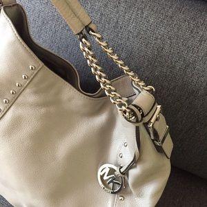 FINAL EUC MK Gray Middleton Leather Handbag